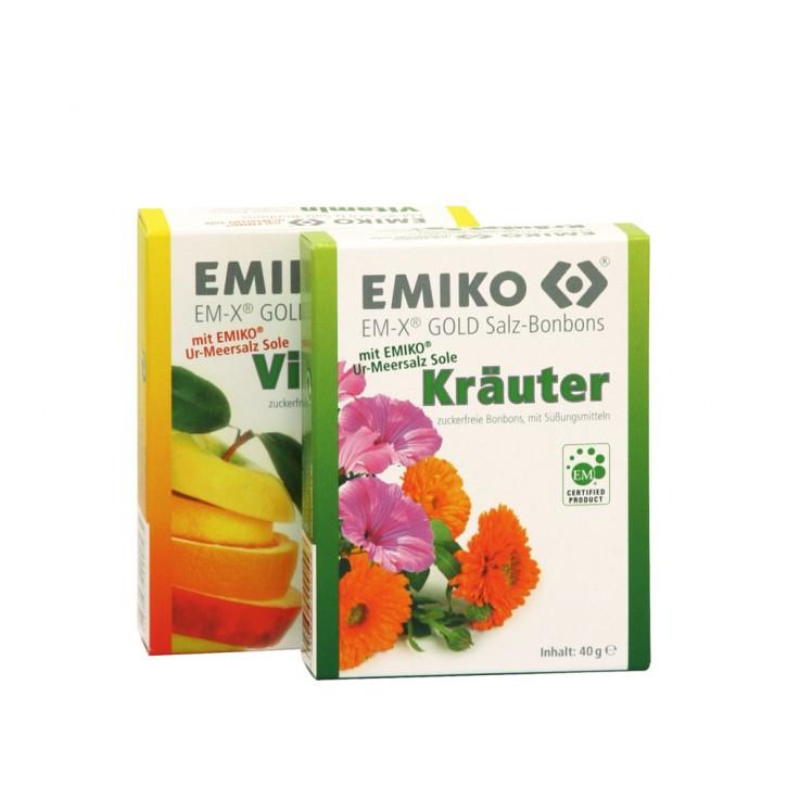 EM-X Gold Salz-Bonbons, 1x40 g Vitamin