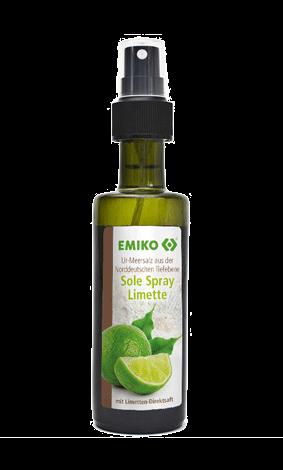Ur-Meersalz Sole Spray Limette, 100ml in der Sprühflasche
